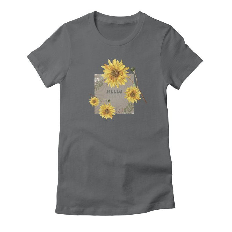 Hello Autumn Women's Fitted T-Shirt by moniquemodern's Artist Shop