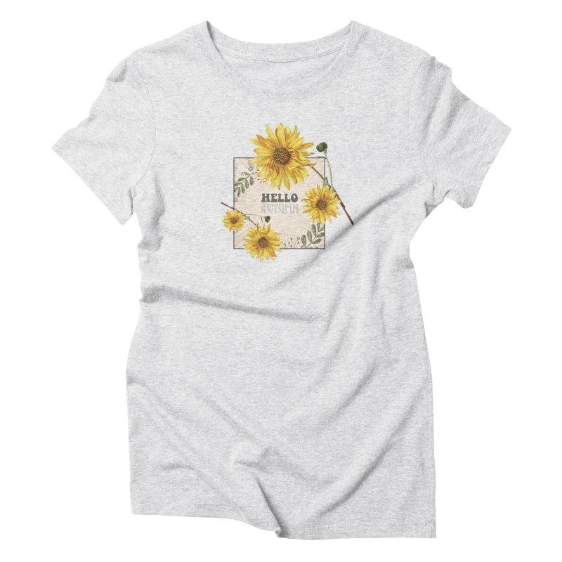 Hello Autumn Women's Triblend T-Shirt by moniquemodern's Artist Shop