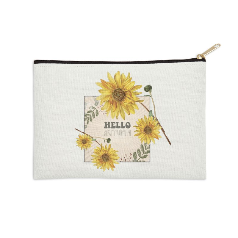 Hello Autumn Accessories Zip Pouch by moniquemodern's Artist Shop