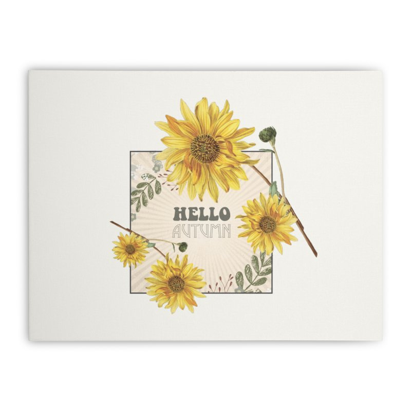 Hello Autumn Home Stretched Canvas by moniquemodern's Artist Shop