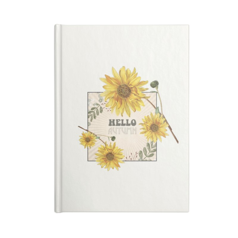 Hello Autumn Accessories Notebook by moniquemodern's Artist Shop