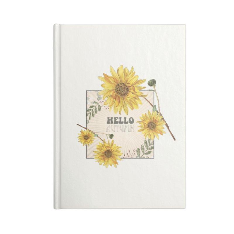 Hello Autumn Accessories Blank Journal Notebook by moniquemodern's Artist Shop