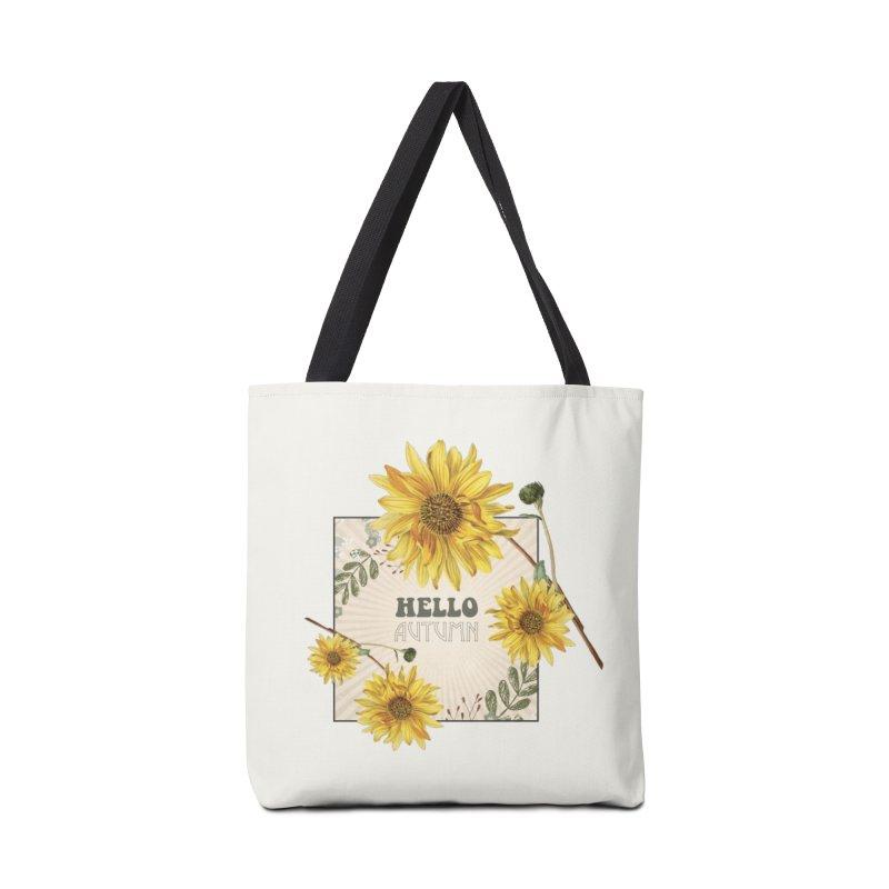 Hello Autumn Accessories Bag by moniquemodern's Artist Shop
