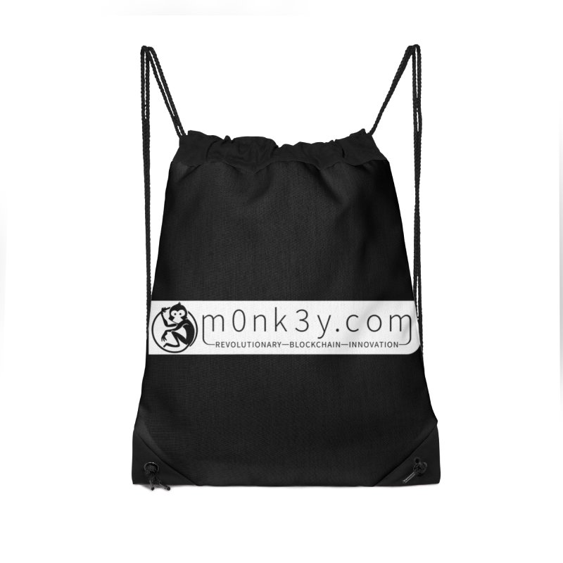 m0nk3y.com Accessories Drawstring Bag Bag by The m0nk3y Merchandise Store