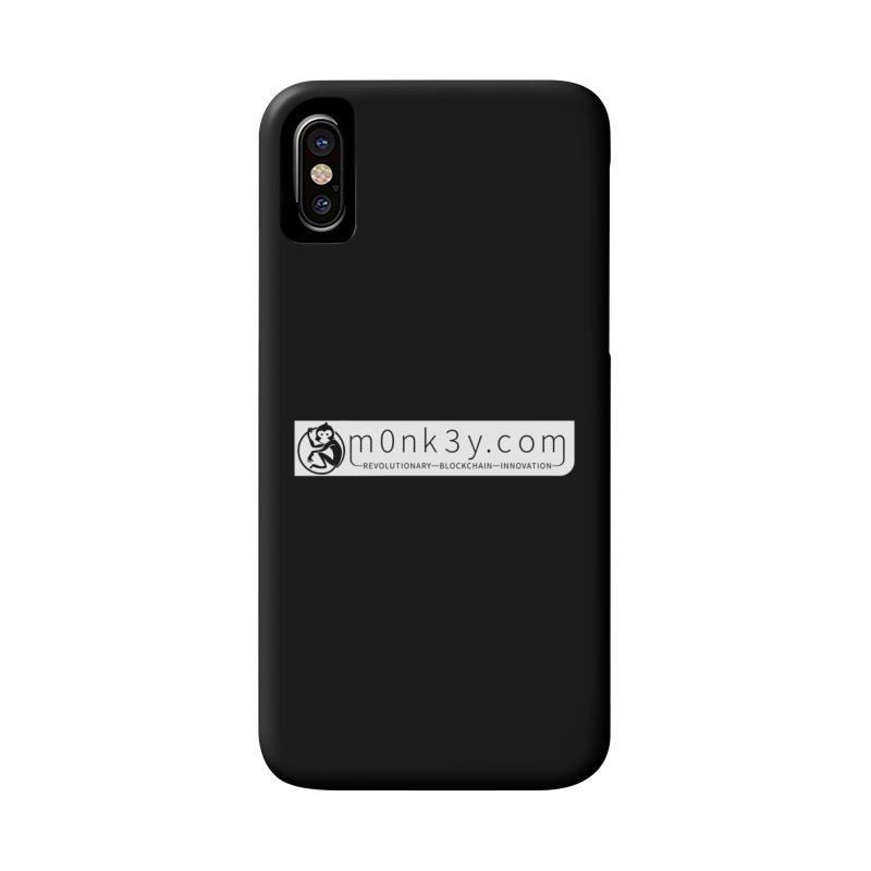 m0nk3y.com Accessories Phone Case by The m0nk3y Merchandise Store