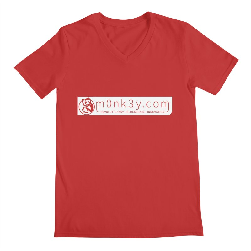 m0nk3y.com Men's V-Neck by The m0nk3y Merchandise Store