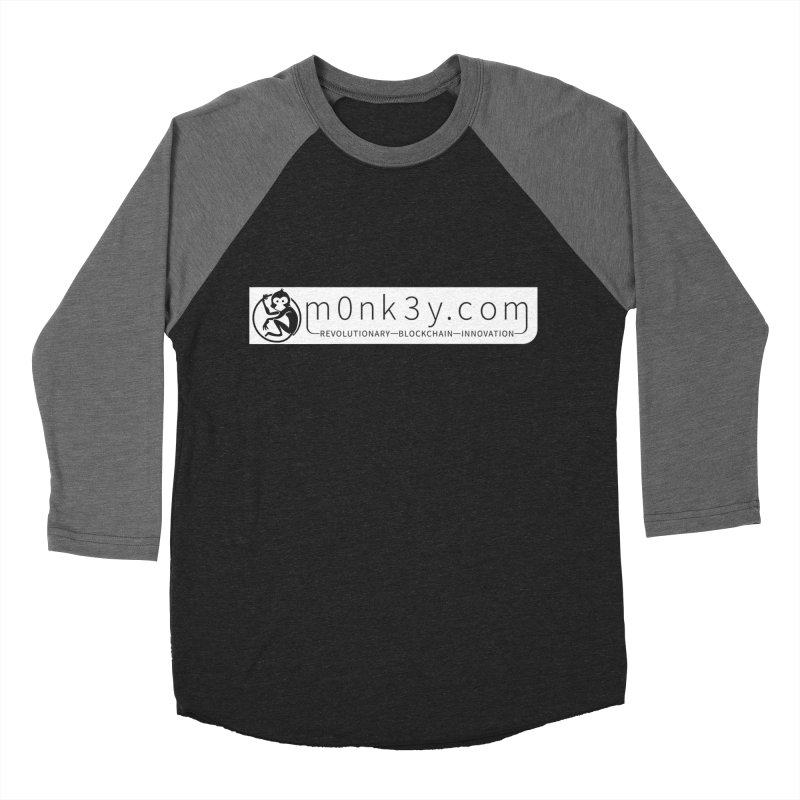 m0nk3y.com Men's Baseball Triblend Longsleeve T-Shirt by The m0nk3y Merchandise Store