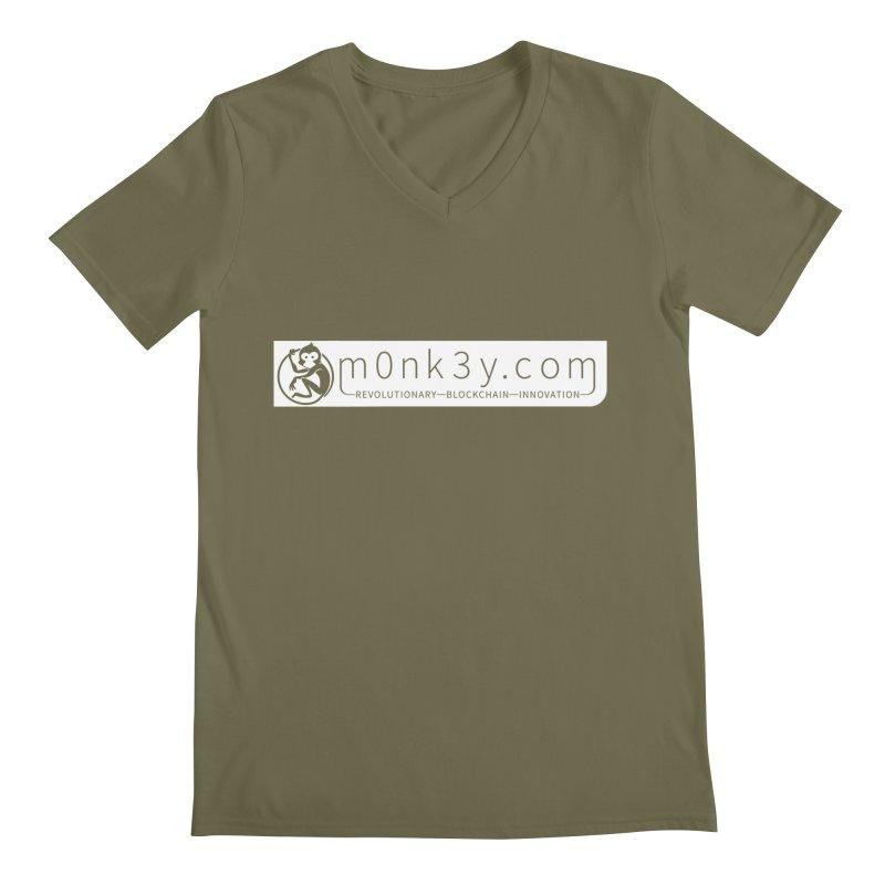 m0nk3y.com Men's Regular V-Neck by The m0nk3y Merchandise Store