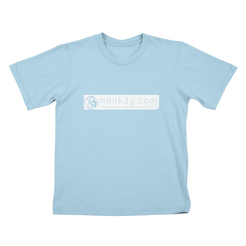 m0nk3y.com Kids T-Shirt by The m0nk3y Merchandise Store