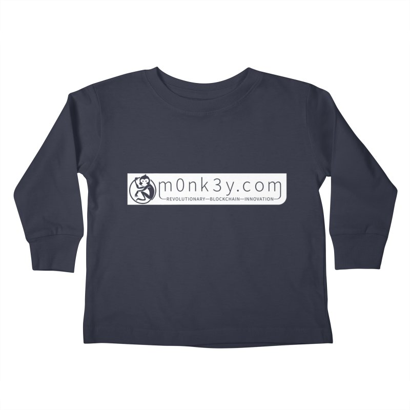m0nk3y.com Kids Toddler Longsleeve T-Shirt by The m0nk3y Merchandise Store