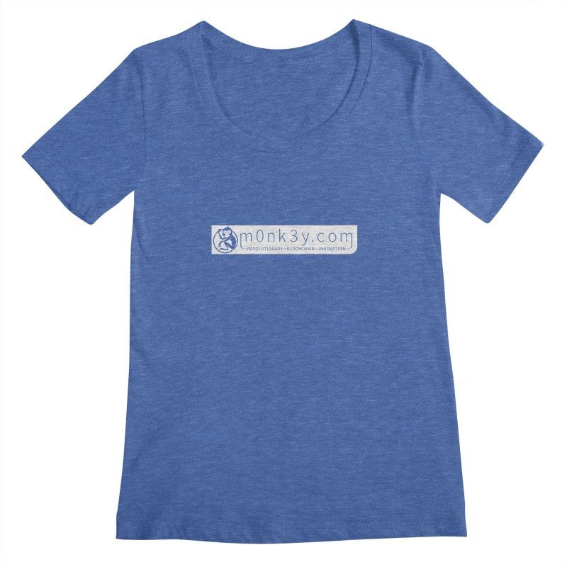 m0nk3y.com Women's Regular Scoop Neck by The m0nk3y Merchandise Store