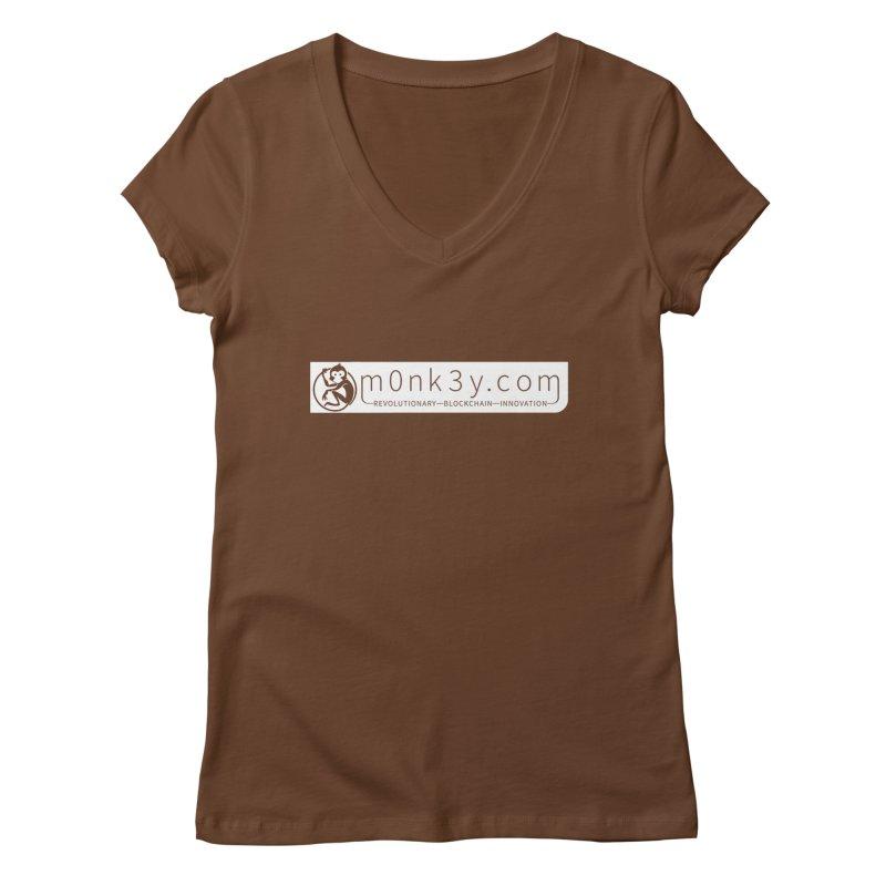 m0nk3y.com Women's Regular V-Neck by The m0nk3y Merchandise Store