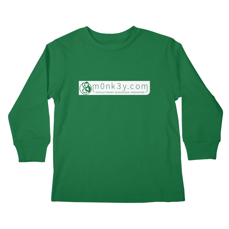 m0nk3y.com Kids Longsleeve T-Shirt by The m0nk3y Merchandise Store