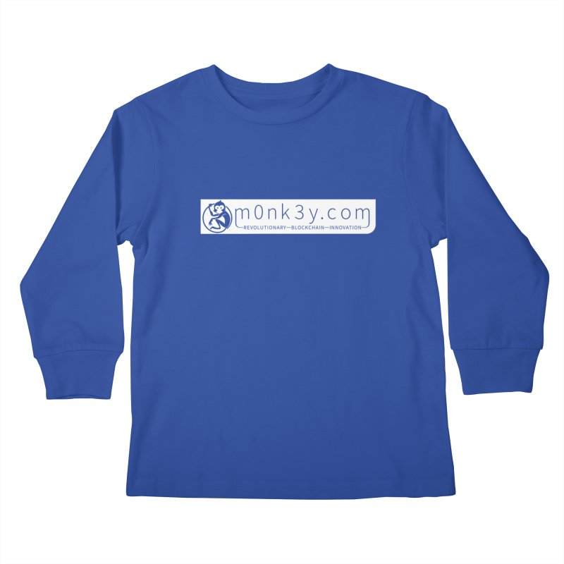 m0nk3y.com Kids Longsleeve T-Shirt by The m0nk3y Merchandise Store