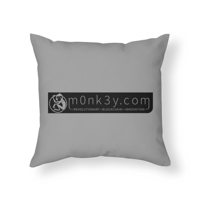 m0nk3y.com Home Throw Pillow by The m0nk3y Merchandise Store