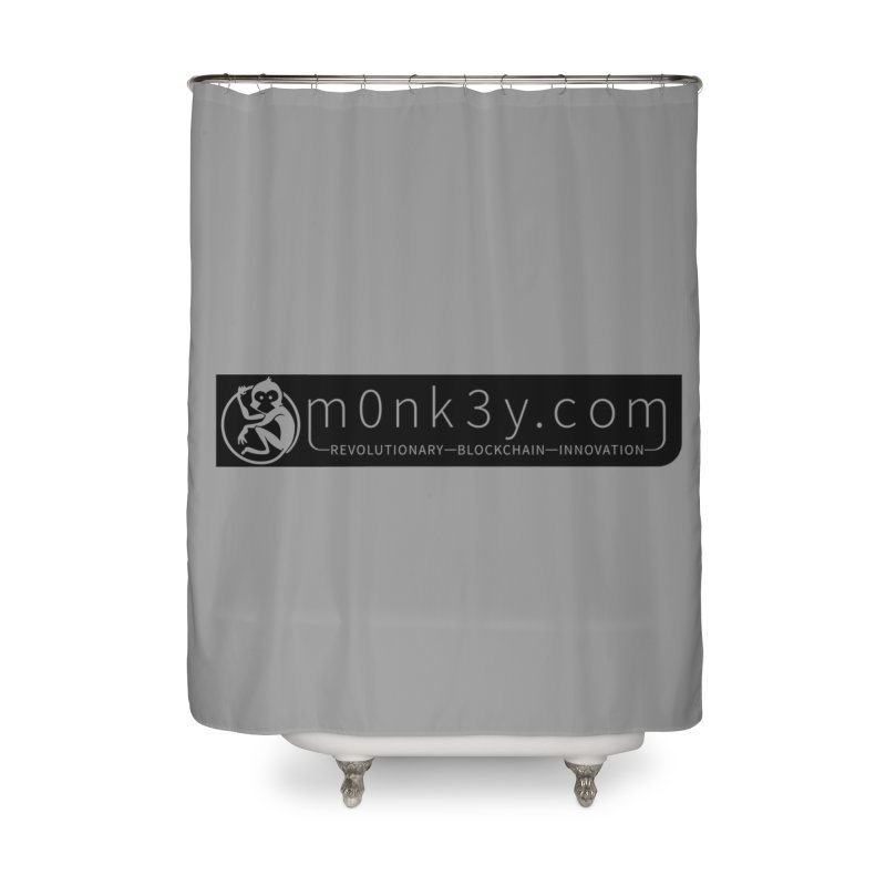 m0nk3y.com Home Shower Curtain by The m0nk3y Merchandise Store