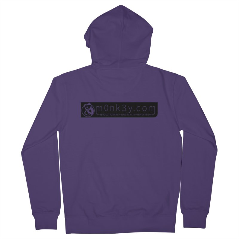 m0nk3y.com Women's French Terry Zip-Up Hoody by The m0nk3y Merchandise Store