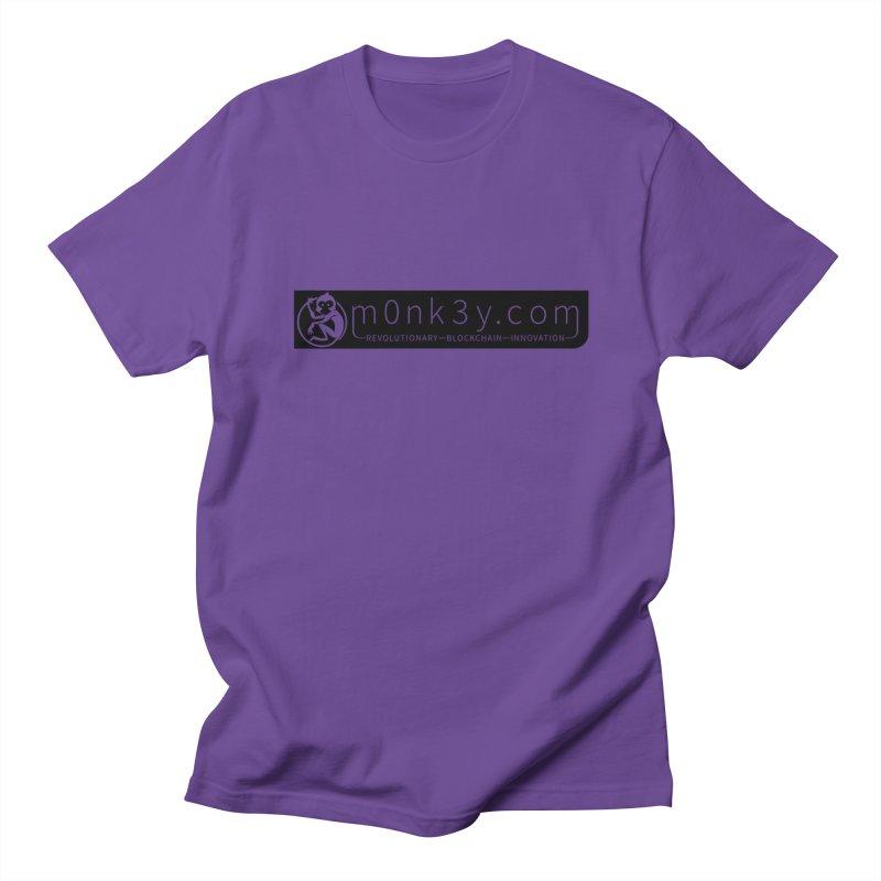 m0nk3y.com Men's Regular T-Shirt by The m0nk3y Merchandise Store