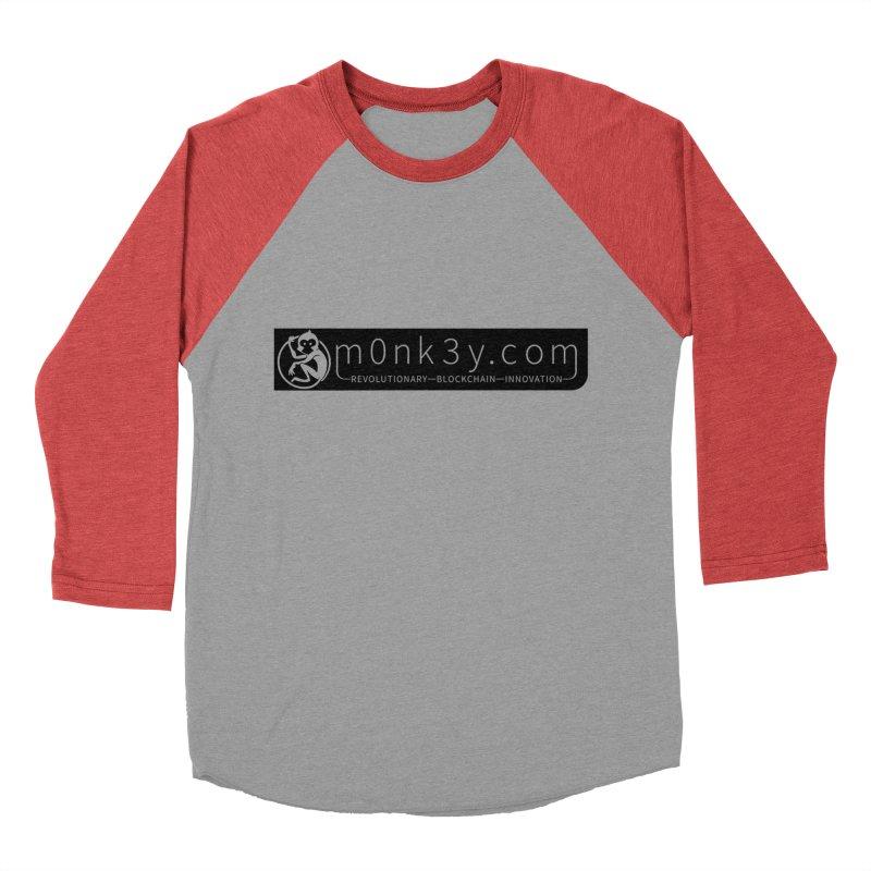 m0nk3y.com Women's Baseball Triblend Longsleeve T-Shirt by The m0nk3y Merchandise Store