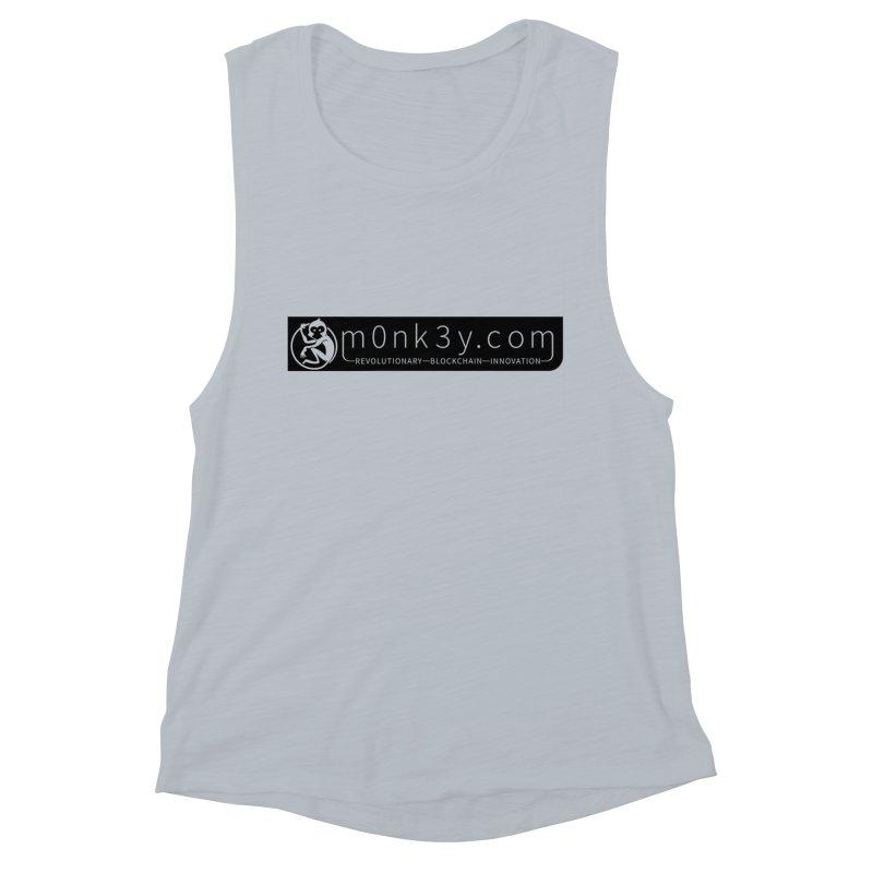 m0nk3y.com Women's Muscle Tank by The m0nk3y Merchandise Store
