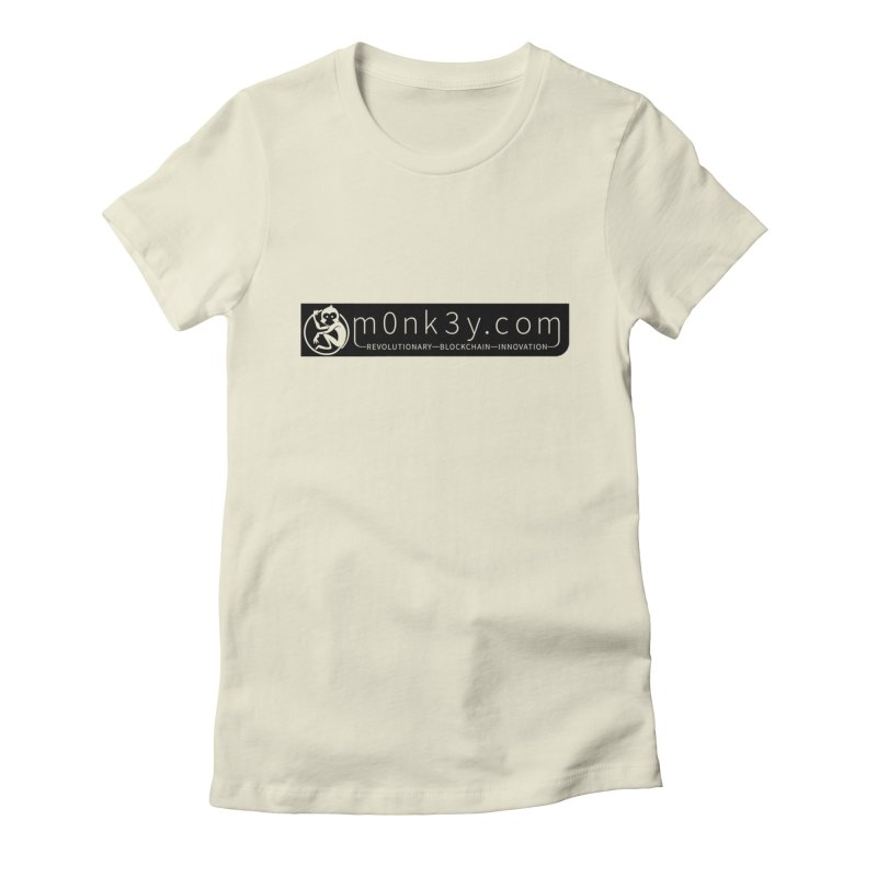 m0nk3y.com Women's Fitted T-Shirt by The m0nk3y Merchandise Store