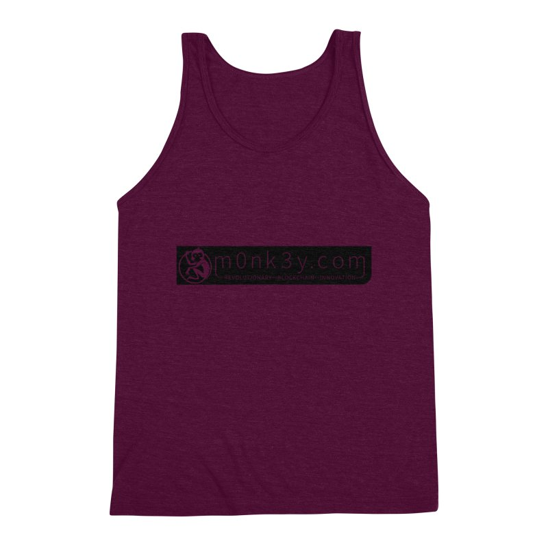 m0nk3y.com Men's Triblend Tank by The m0nk3y Merchandise Store