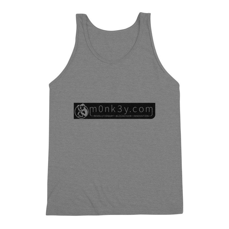 m0nk3y.com Men's Triblend Tank by The m0nk3y Merchandise Store