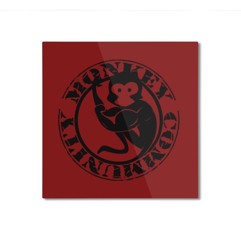 Monkey Community Home Mounted Aluminum Print by The m0nk3y Merchandise Store