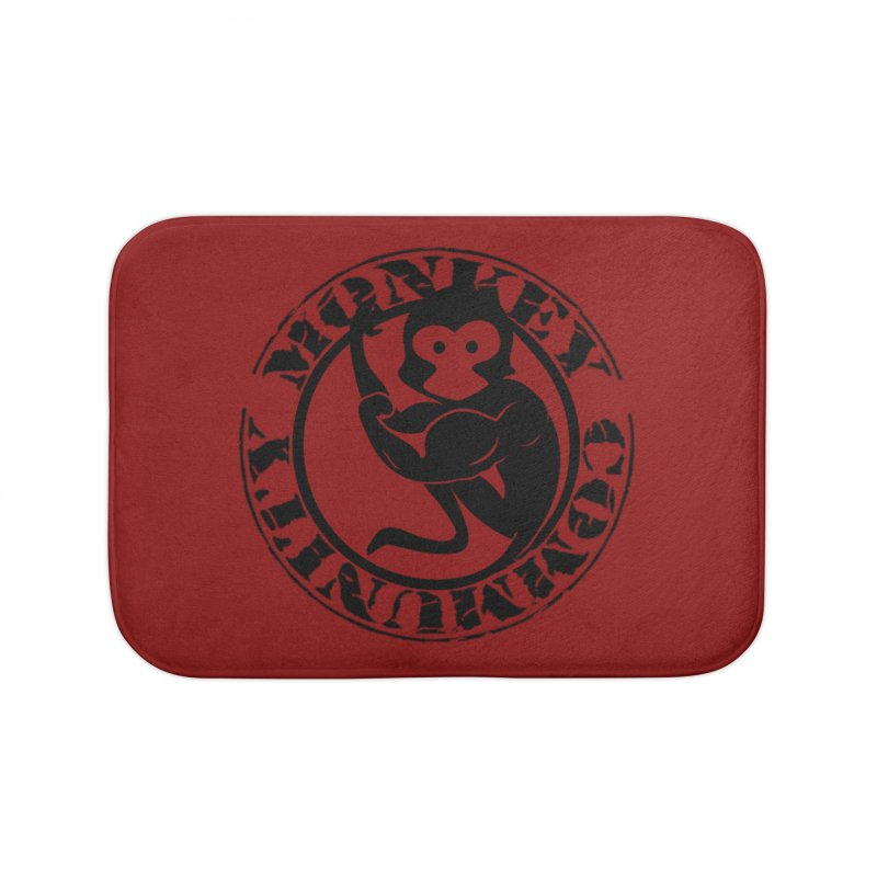 Monkey Community Home Bath Mat by The m0nk3y Merchandise Store