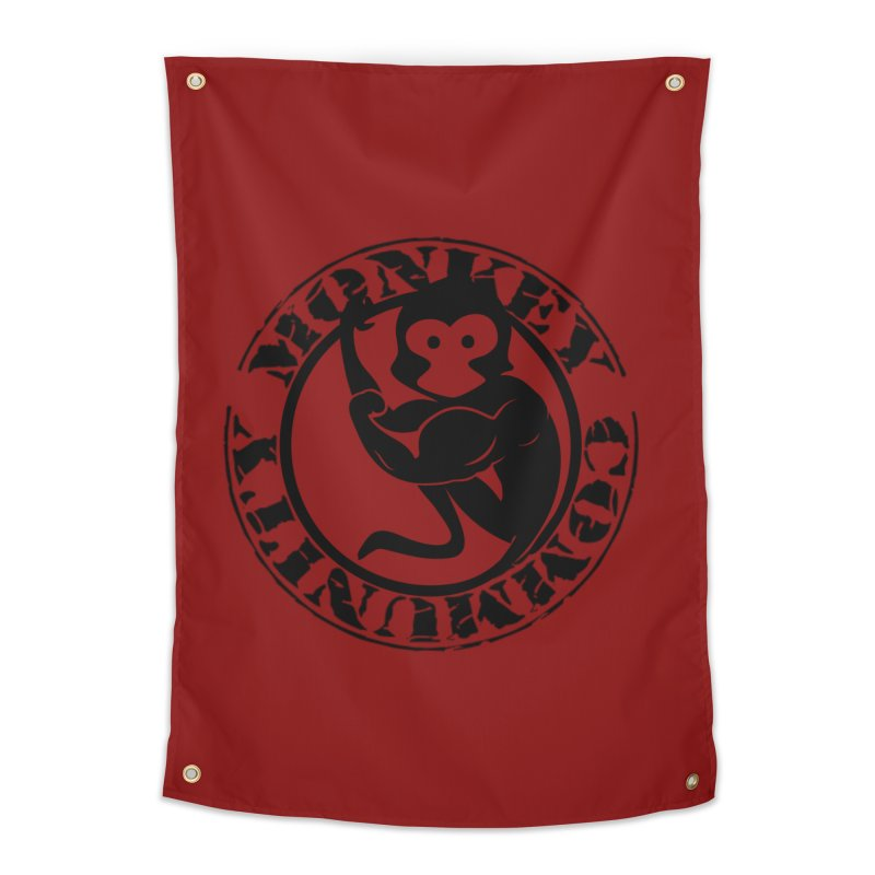 Monkey Community Home Tapestry by The m0nk3y Merchandise Store