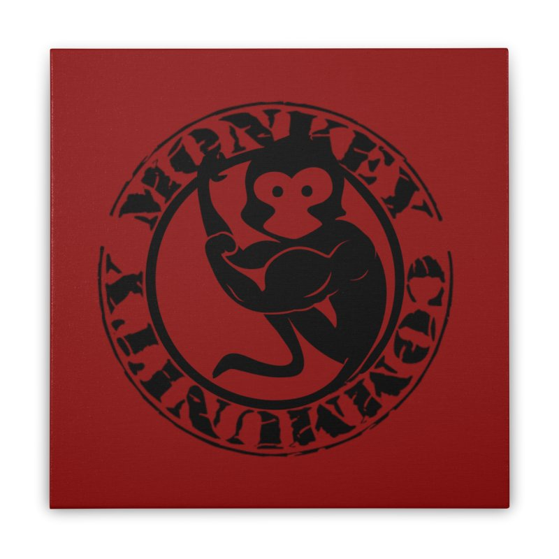 Monkey Community Home Stretched Canvas by The m0nk3y Merchandise Store
