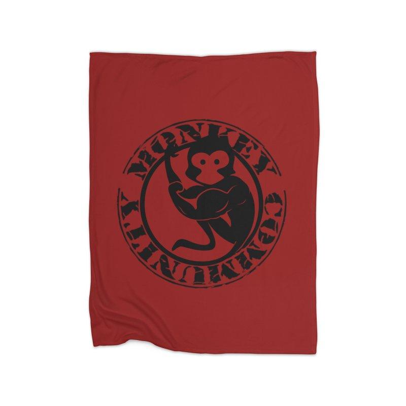 Monkey Community Home Fleece Blanket Blanket by The m0nk3y Merchandise Store