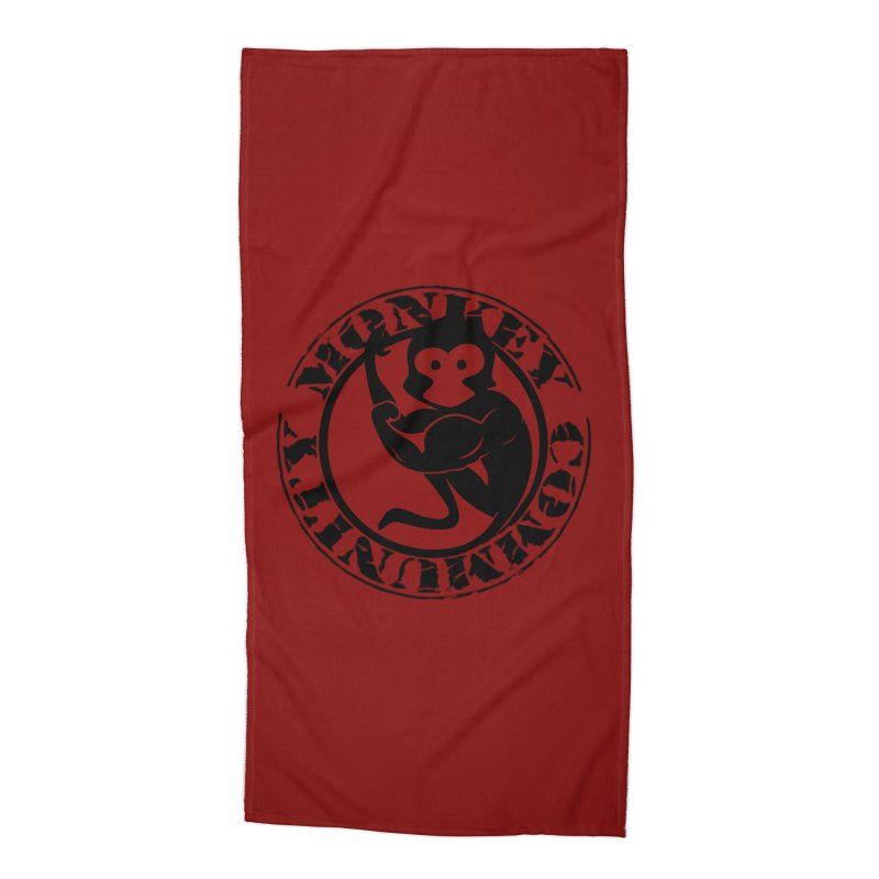 Monkey Community Accessories Beach Towel by The m0nk3y Merchandise Store