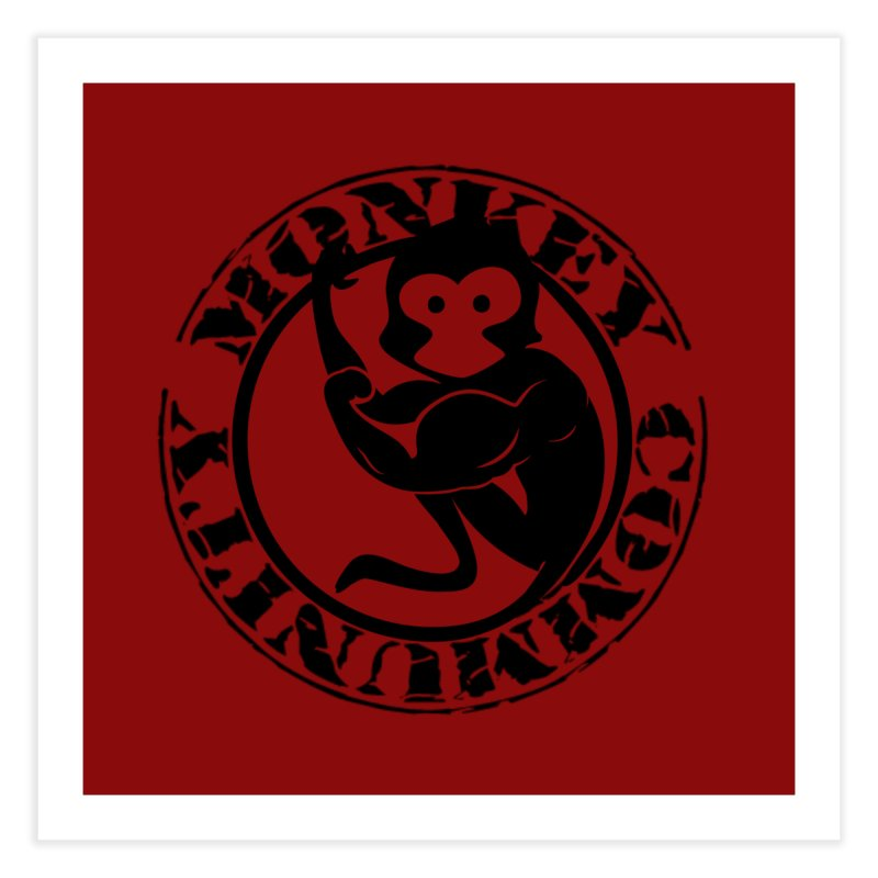 Monkey Community Home Fine Art Print by The m0nk3y Merchandise Store