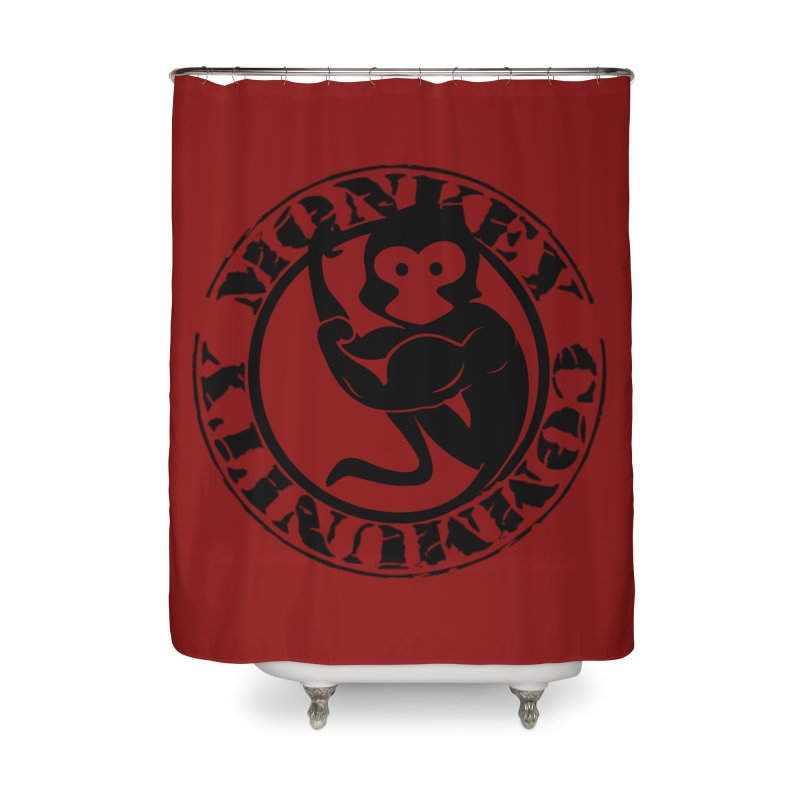 Monkey Community Home Shower Curtain by The m0nk3y Merchandise Store