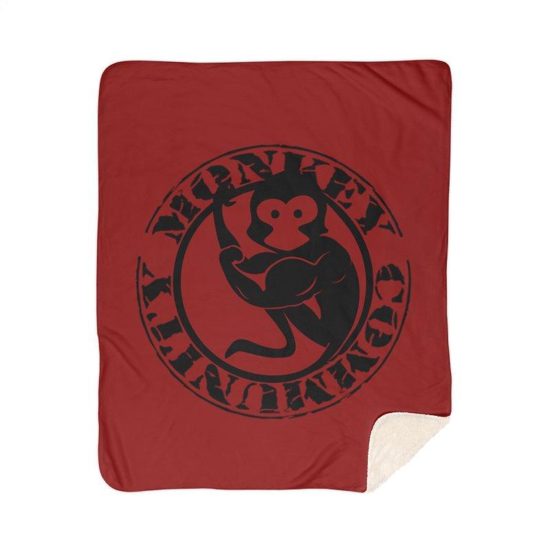 Monkey Community Home Sherpa Blanket Blanket by The m0nk3y Merchandise Store