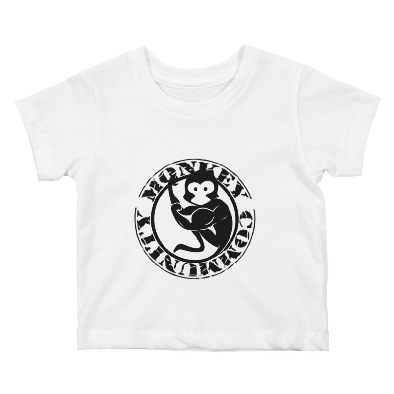 Monkey Community Kids Baby T-Shirt by The m0nk3y Merchandise Store