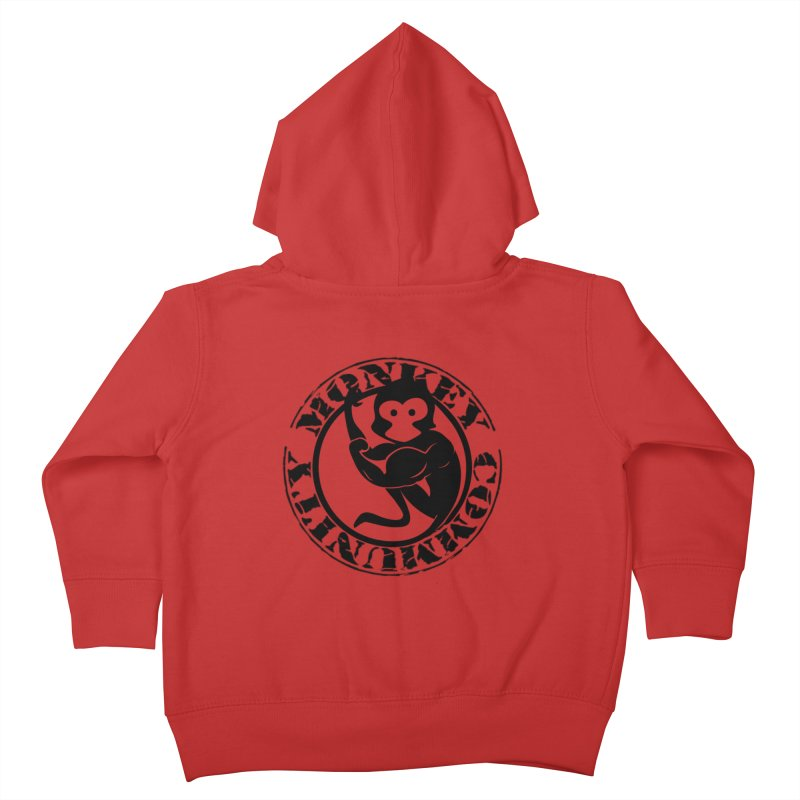 Monkey Community Kids Toddler Zip-Up Hoody by The m0nk3y Merchandise Store
