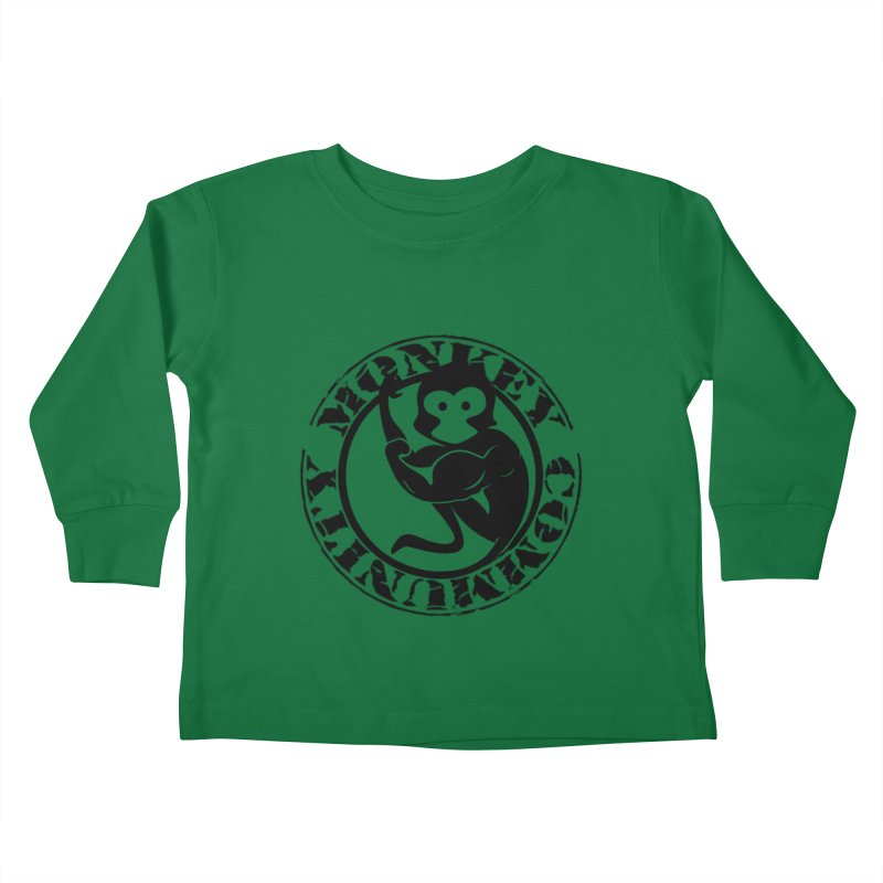 Monkey Community Kids Toddler Longsleeve T-Shirt by The m0nk3y Merchandise Store