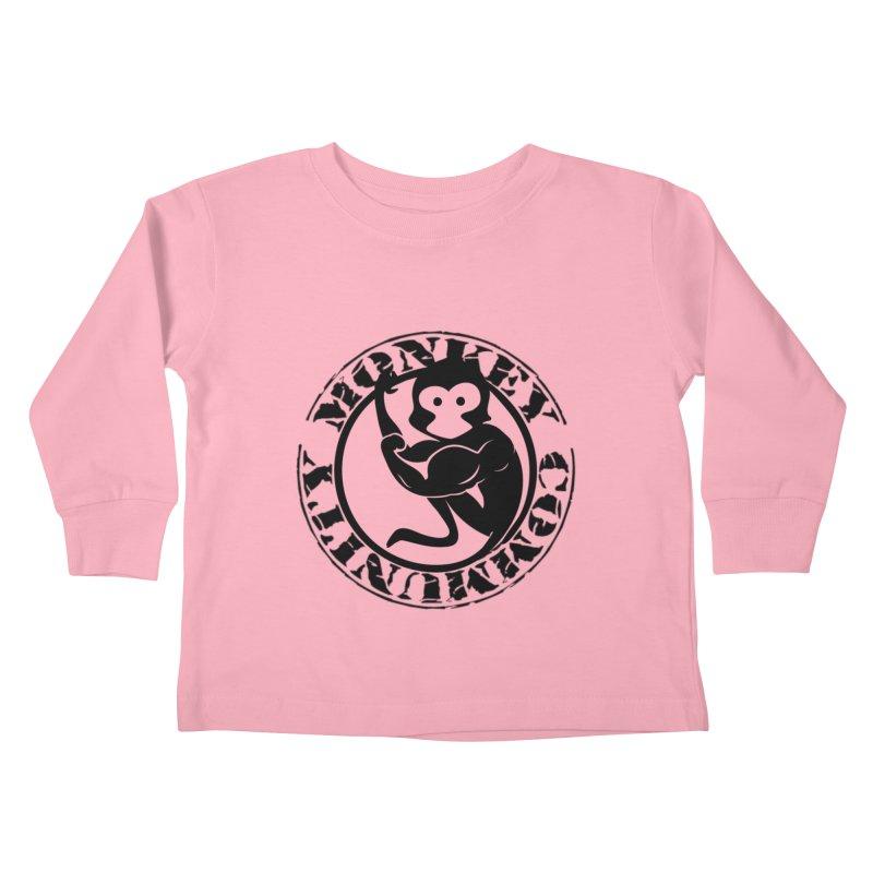 Monkey Community Kids Toddler Longsleeve T-Shirt by The m0nk3y Merchandise Store