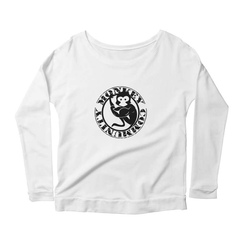 Monkey Community Women's Scoop Neck Longsleeve T-Shirt by The m0nk3y Merchandise Store