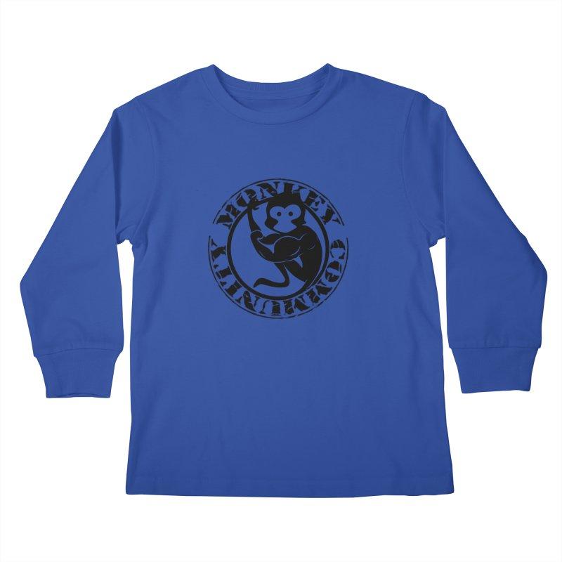 Monkey Community Kids Longsleeve T-Shirt by The m0nk3y Merchandise Store
