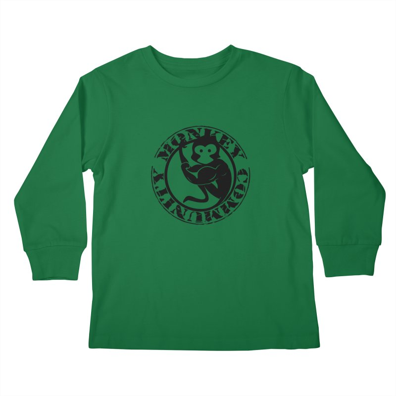 Monkey Community Kids Longsleeve T-Shirt by The m0nk3y Merchandise Store