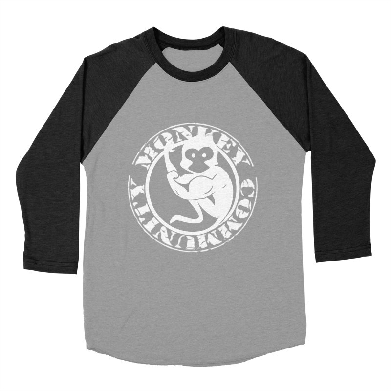 Monkey Community Men's Baseball Triblend Longsleeve T-Shirt by The m0nk3y Merchandise Store
