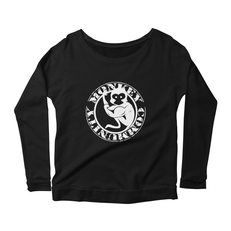 Monkey Community Women's Scoop Neck Longsleeve T-Shirt by The m0nk3y Merchandise Store
