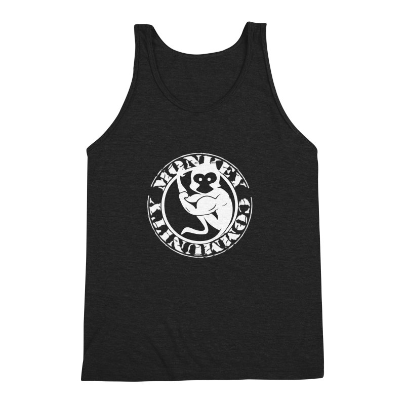 Monkey Community Men's Triblend Tank by The m0nk3y Merchandise Store