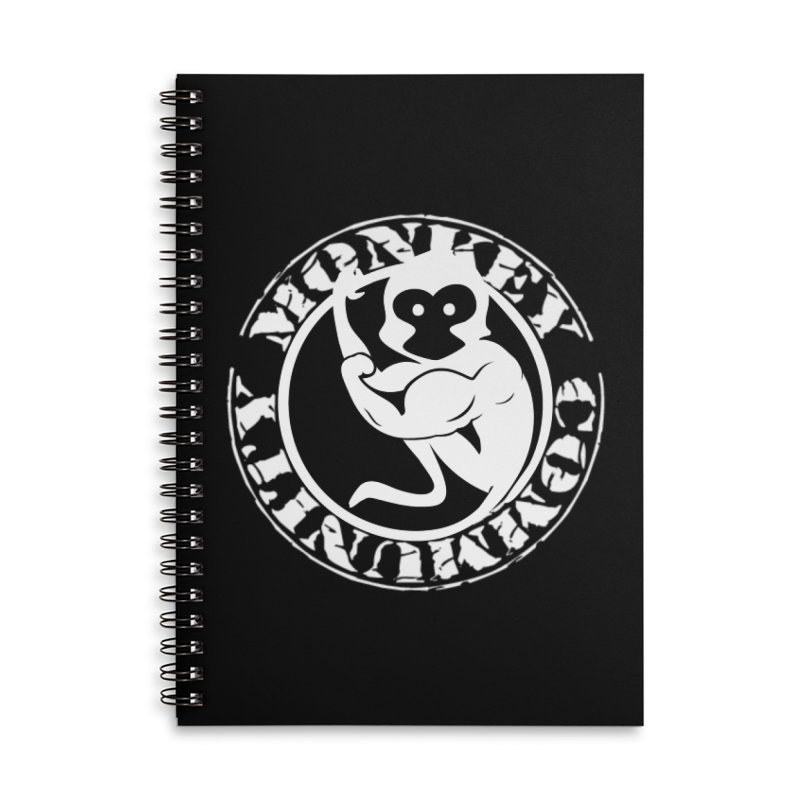 Monkey Community Accessories Lined Spiral Notebook by The m0nk3y Merchandise Store