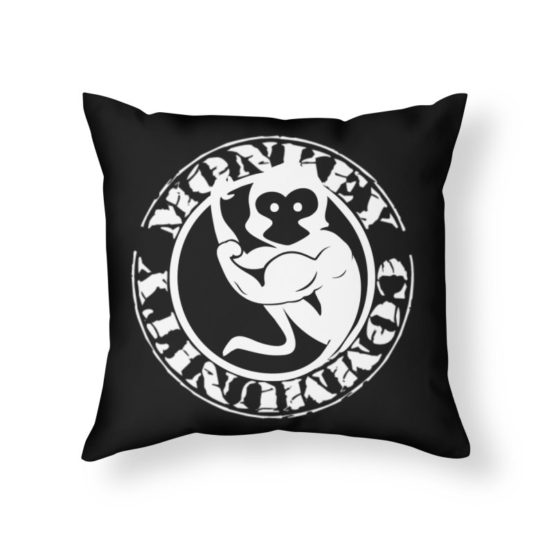 Monkey Community Home Throw Pillow by The m0nk3y Merchandise Store
