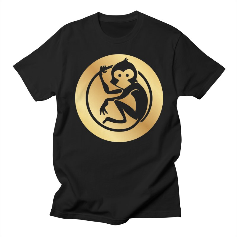 Monkey Gold Large Logo Men's T-Shirt by The m0nk3y Merchandise Store