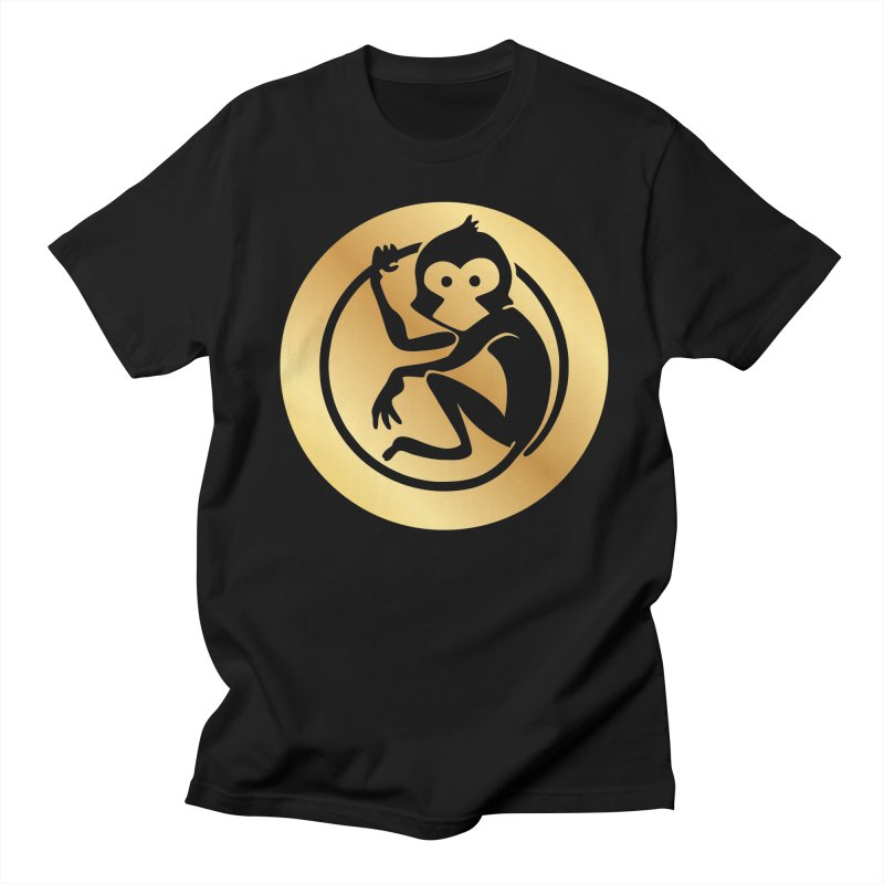 Monkey Gold Large Logo Women's T-Shirt by The m0nk3y Merchandise Store